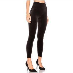 SPANX Black Velvet Leggings